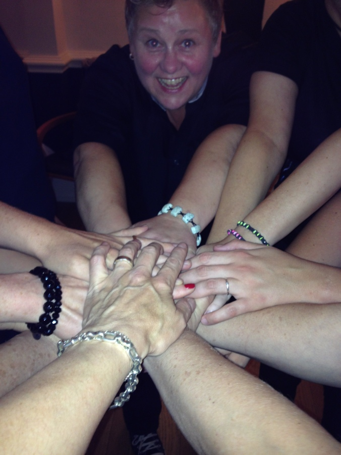 4 teamwork hands